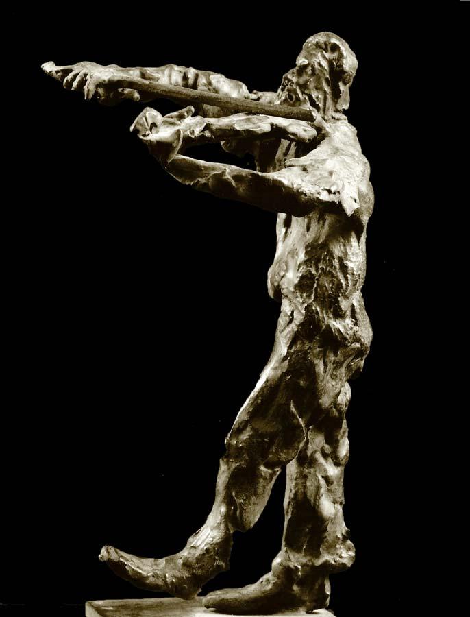 LE PETIT VIOLONISTE - 1986 - bronze - 29x13x11cm