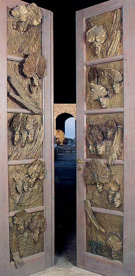 PORTE  - 1978 -  bronze – commande de Ed Tuttle pour villa de Darthea Speyer à Hydra (Grèce)