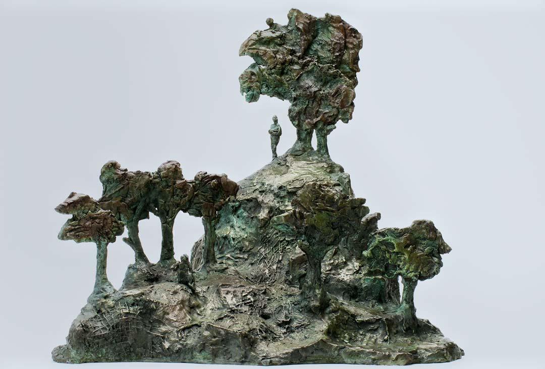 REVE DE JARDIN - 2013-  bronze - 37,5x37,5x43cm