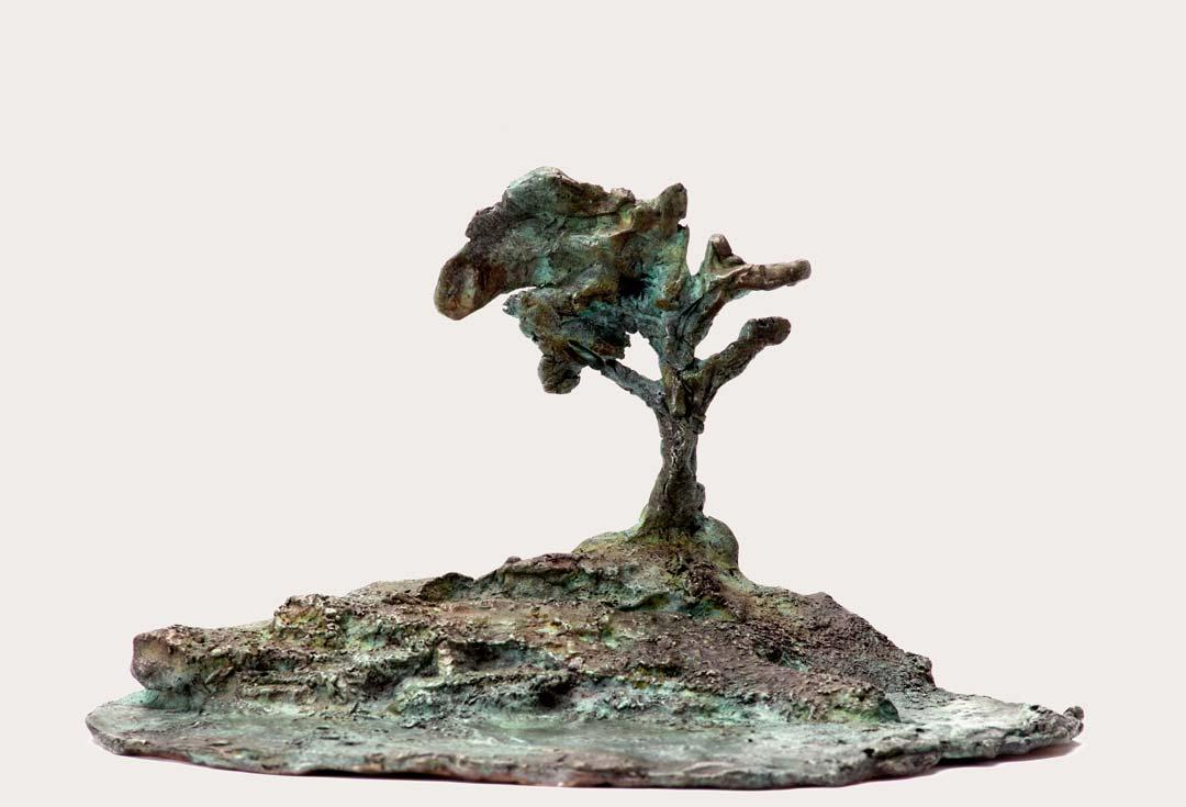 TOUT PETIT PAYSAGE - 2013 - bronze - 9x15x10,5cm