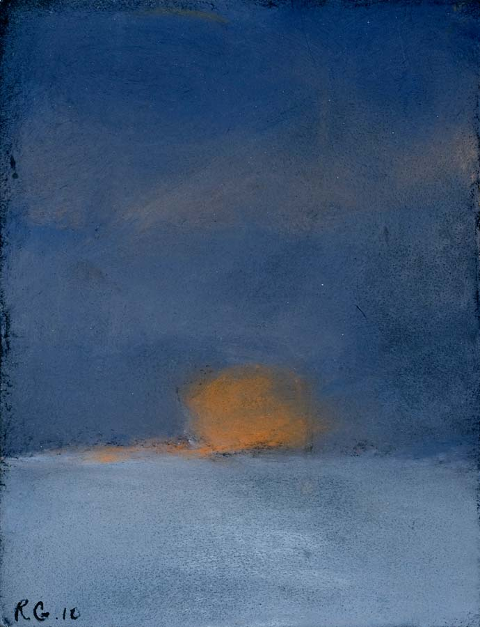 SOLEIL COUCHANT - 2010 - pastel sur papier